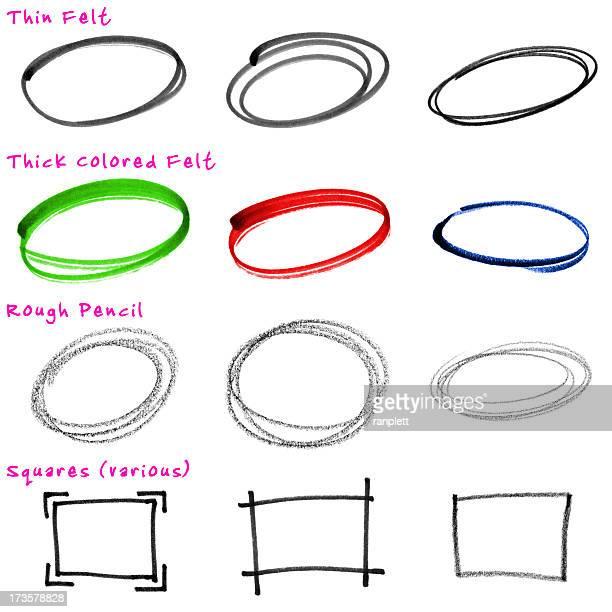 Design Elements: Rough, Hand-drawn Circles