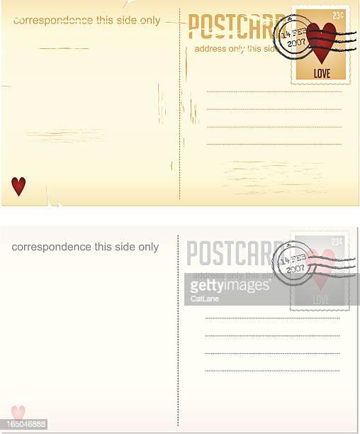 Design-Elemente-Serie-Valentinstag Liebe Postkarten und Briefmarken