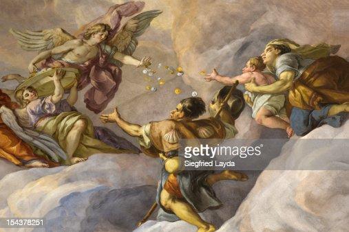 Detail of Fresco in the Karlskirche : ストックイラストレーション