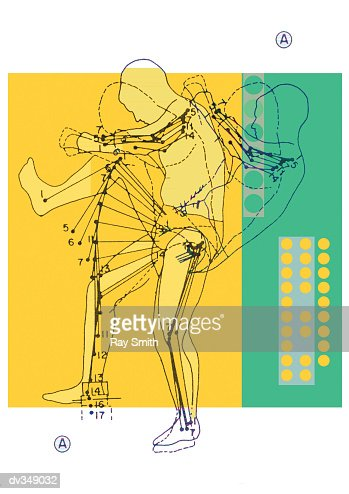 Diagram of human body movement : Stock Illustration