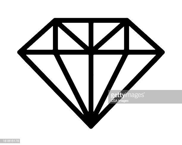 Illustrations et dessins anim s de diamant getty images - Diamant dessin ...