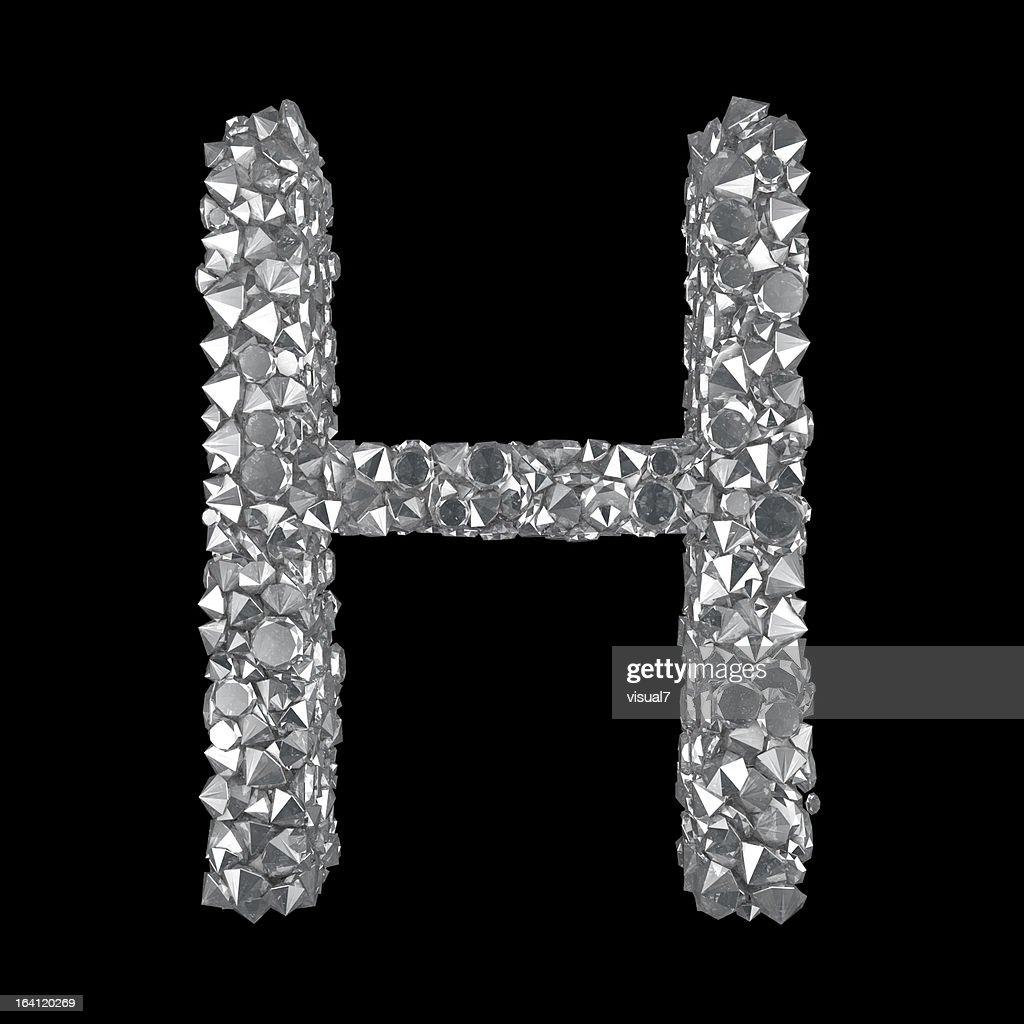 H Letter In Diamond Diamond Letter H Stock...
