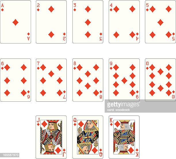 Diamond Suit Two Playing Cards
