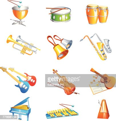 Worksheets Types Of Musical Instrument different types of musical instruments vector art getty images art