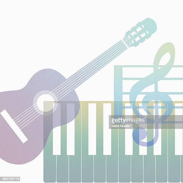 Musical Symbols Clip Art Stock Photos And Pictures Getty Images