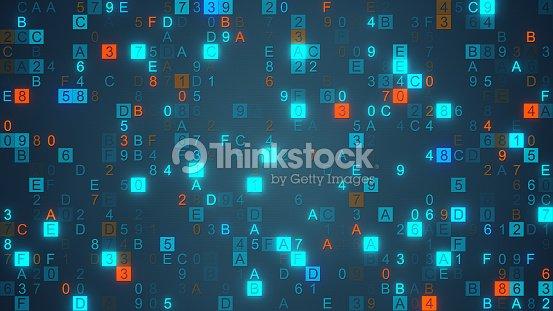 Digital Data Hex Code Symbols Stock Illustration Thinkstock