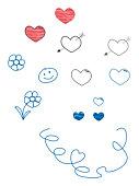 Digital illustration of child's doodles