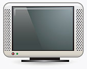 Digital illustration of flat screen television
