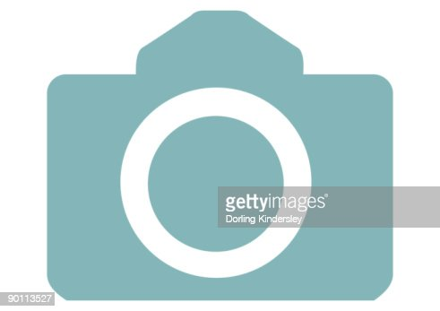 Digital illustration of SLR camera body : Stock Illustration