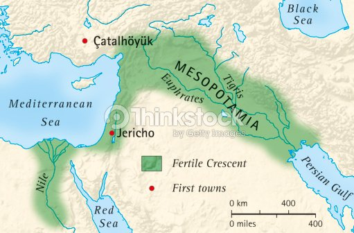 Digital illustration of the fertile crescent of mesopotamia and digital illustration of the fertile crescent of mesopotamia and egypt and location of first towns gumiabroncs Image collections