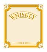 Digital illustration of whiskey label