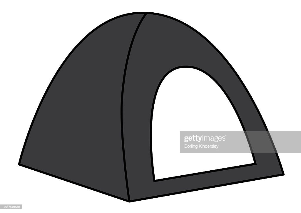 Digital illustration representing dome tent : Stock Illustration