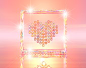 Digital image depicting a heart made from jewels