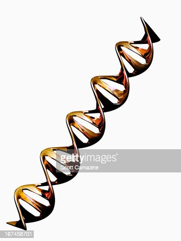Digitally generated image of double helix : Stock Illustration