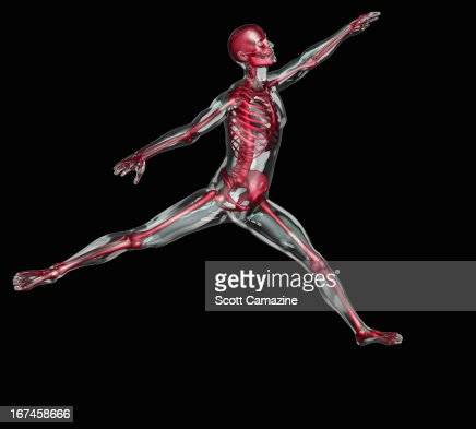 Digitally generated image of human representation dancing ballet : Stock Illustration