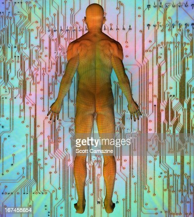 Digitally generated image of human representation : Stock Illustration
