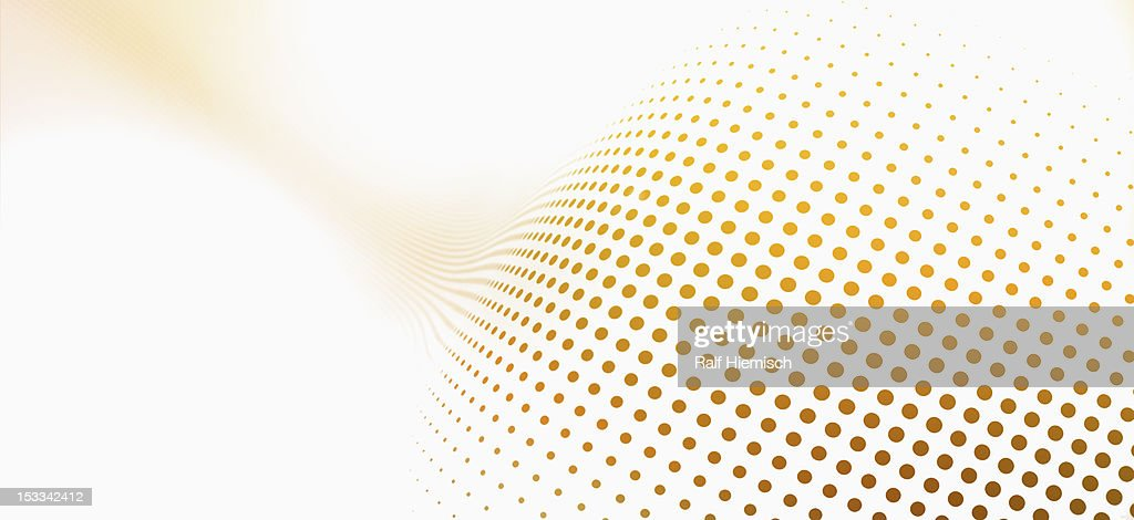 Diminishing dot pattern against a white background : Stock Illustration