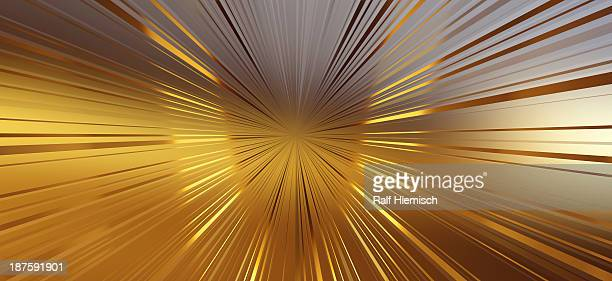Diminishing perspective of seamless golden lines