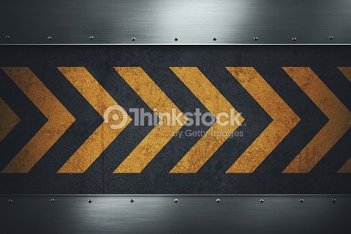 Dirty grungy asphalt surface with yellow warning stripes : stock illustration