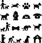 Dogs and puppy clip art. Professional icons for your print project or Web site. See more in this series.