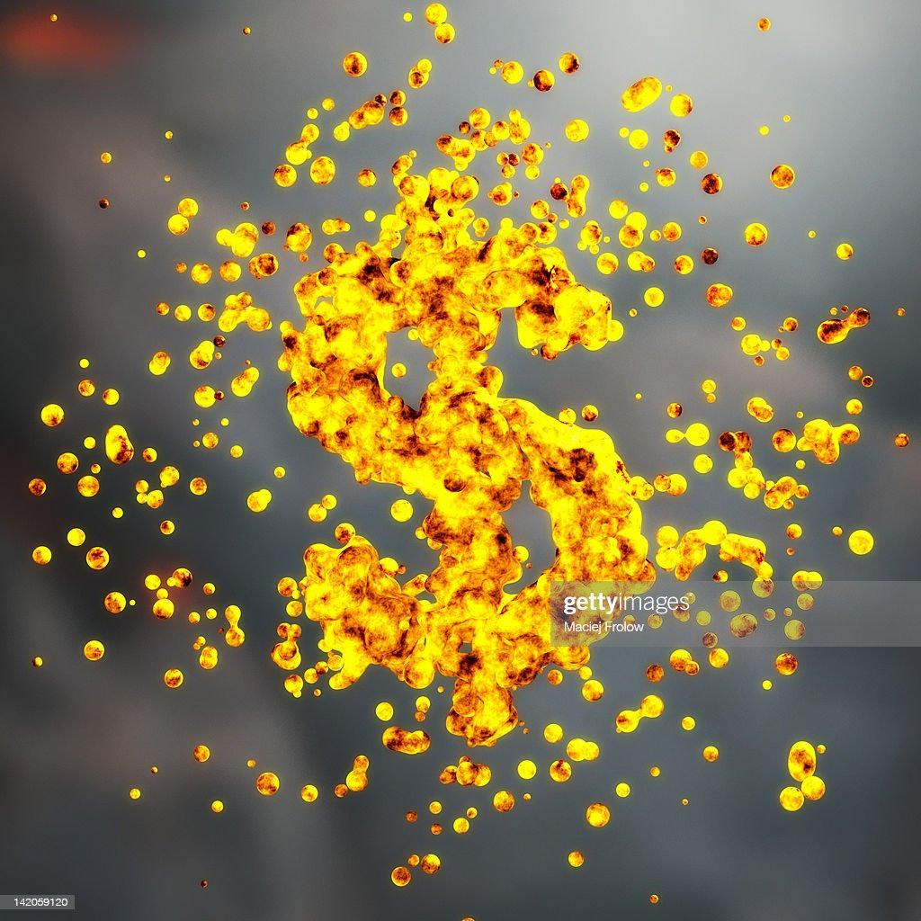 Dollar symbol made of liquid metal : Stock Illustration