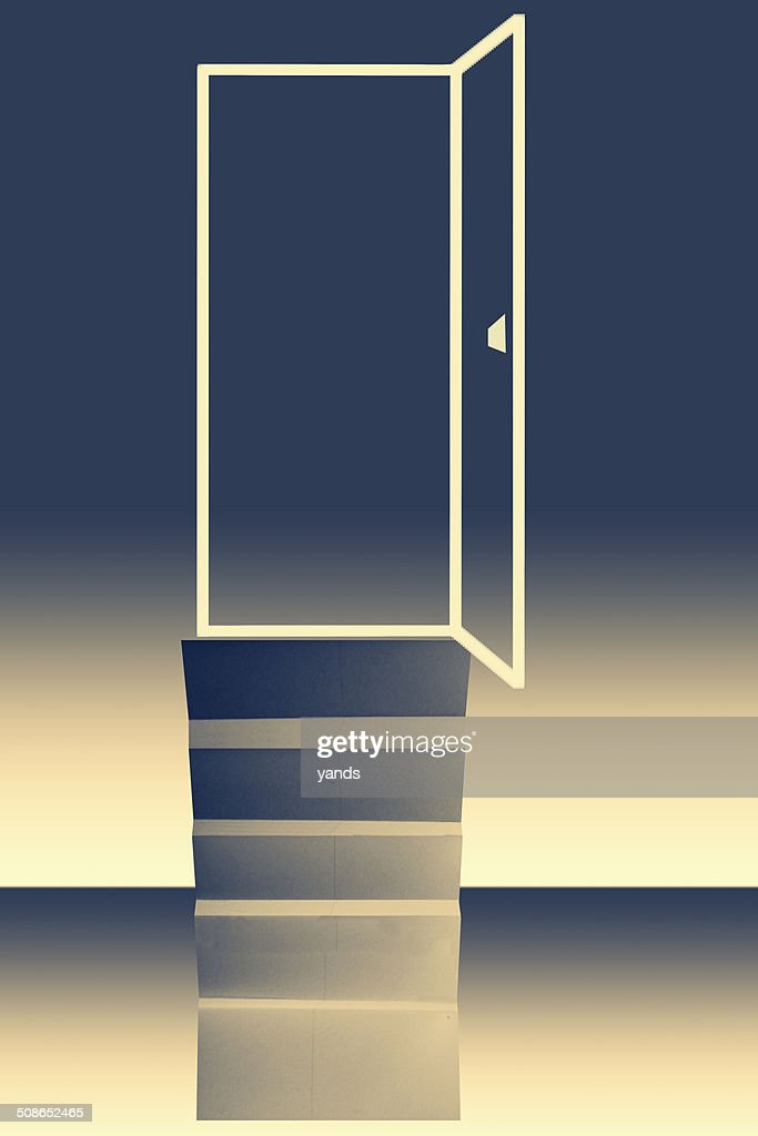 door of opportunity concept : Stock Illustration