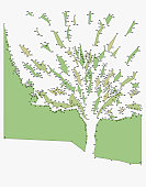 Dots outlining tree (Digitally Generated)