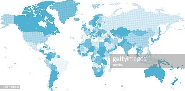 Dotted carte du monde