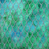 Dragon skin scales green silver emerald pattern texture background.