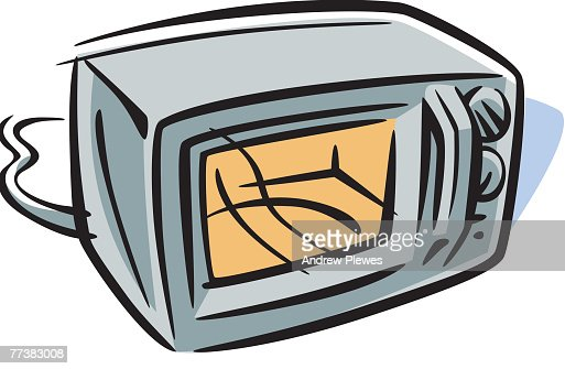 Drawing Of A Microwave Oven Vector Art