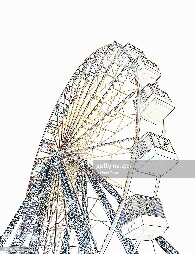 Drawing Of Ferris Wheel Low Angle View Stock Illustration ...