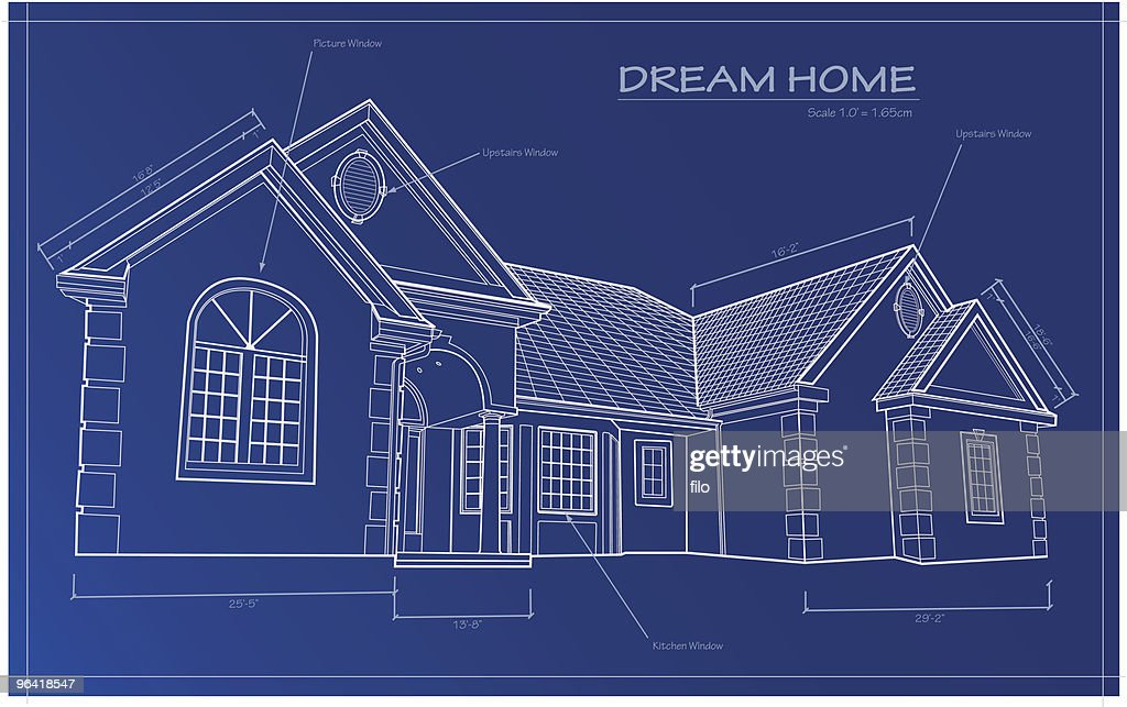dream home blueprint vector vector art getty images gallery for gt dream home blueprints