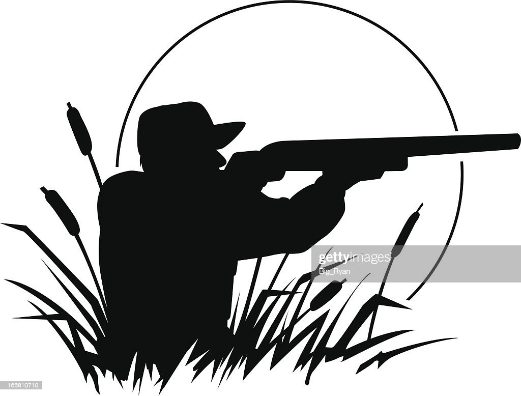 Duck Hunting Silhouette Vector Art | Getty Images