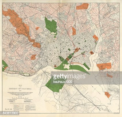 Early Map Of The City And Capitol Of Washington Dc United States - United states map washington dc