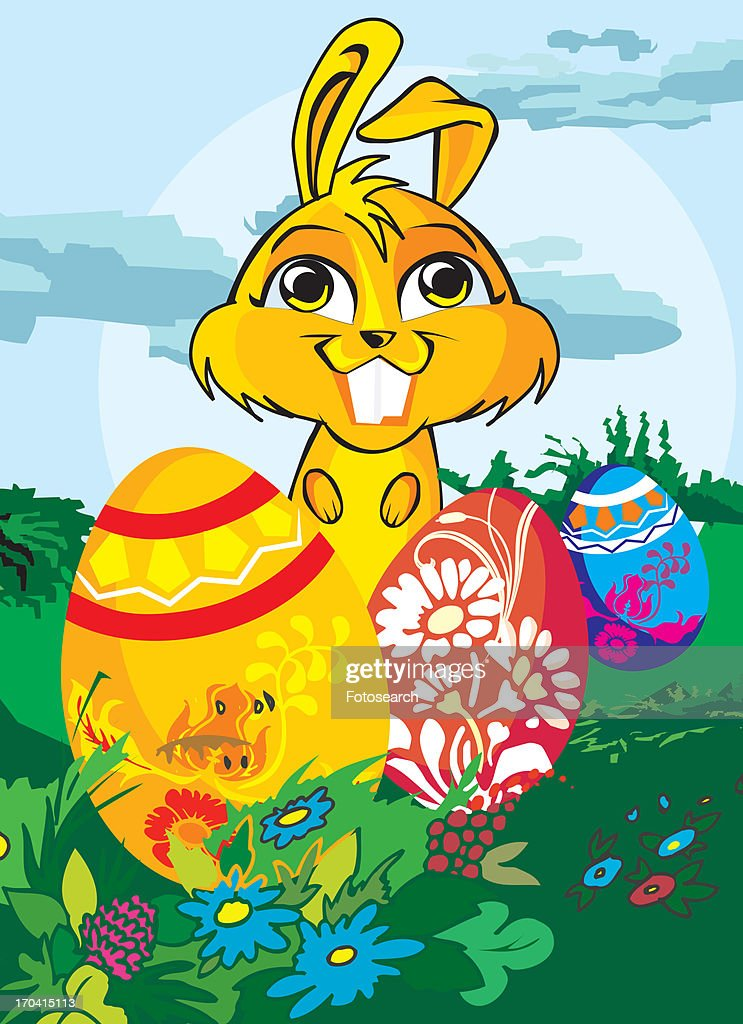 Easter bunny : Stock Illustration