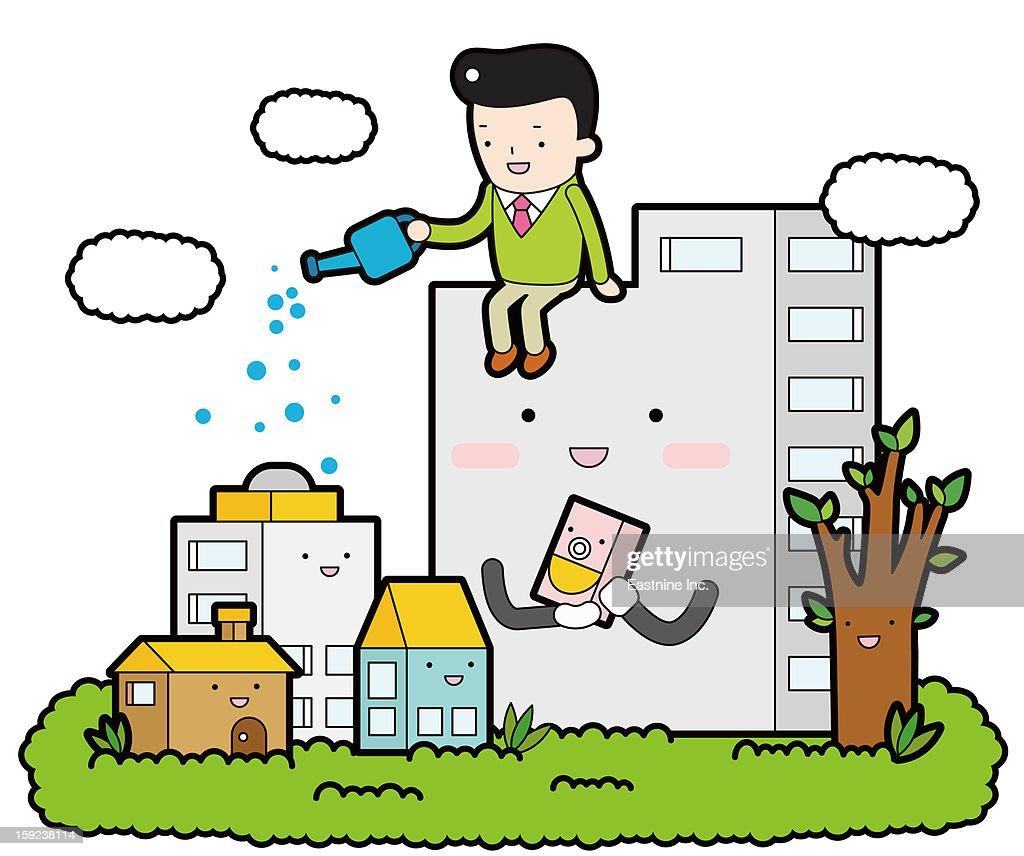 Economic Effect : Stock Illustration