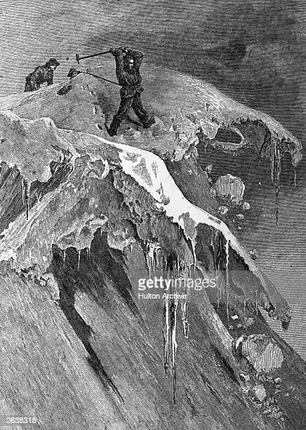 Edward Whymper English wood engraver and mountaineer on the Morning Pass on the Matterhorn Original Publication People Disc HL0076