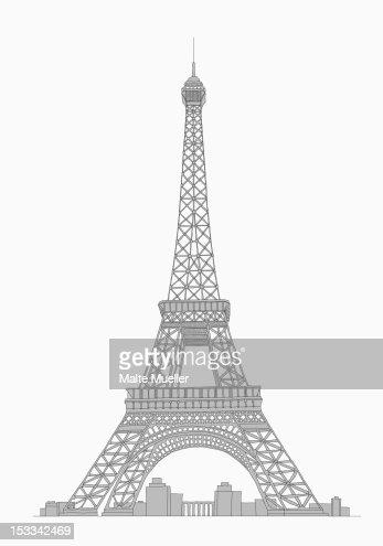 Eifel tower : Stock Illustration
