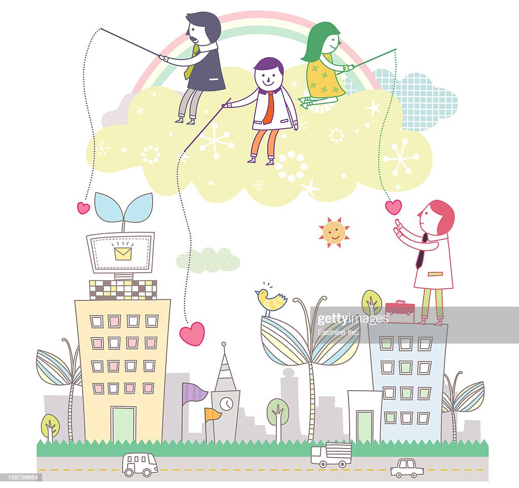 Electronic devices and children : Stock Illustration