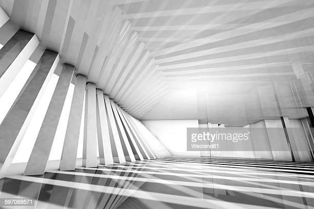 Empty modern interior, 3D Rendering