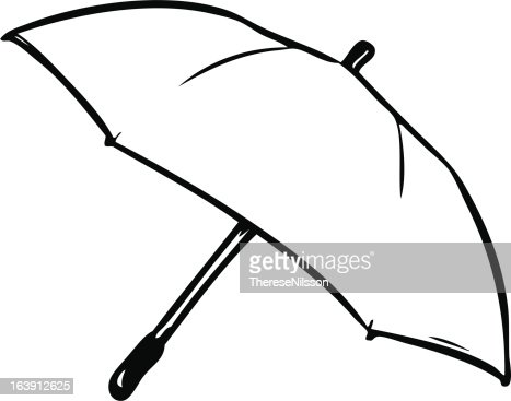 Empty Umbrella Template Vector Art | Getty Images