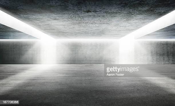 Empty Underground Parking Lot