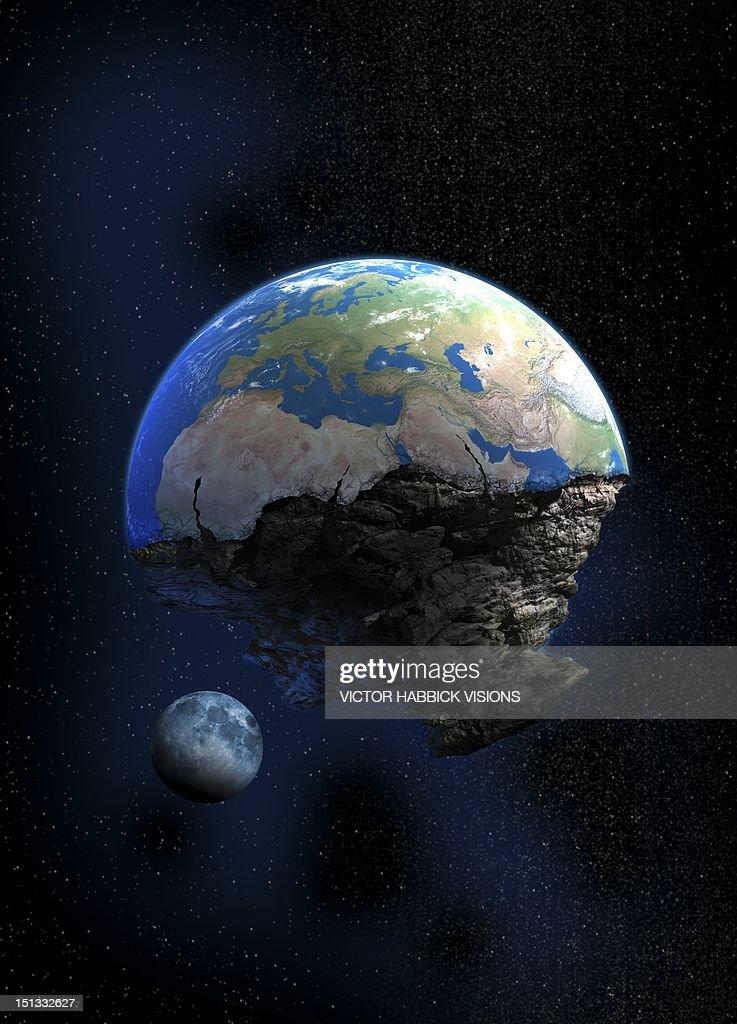 End of the world, artwork : Stock Illustration