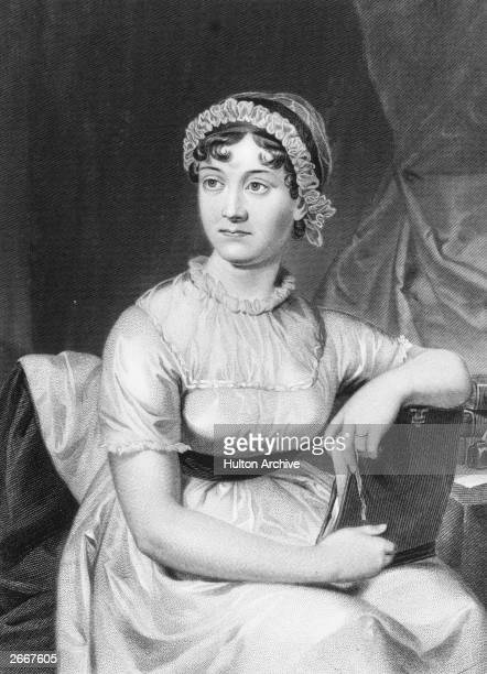 English novelist Jane Austen from an original family portrait