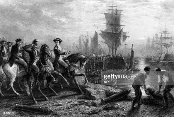 William Howe 5th Viscount Howe commander in chief of the British forces in North America during the American Revolution orders the evacuation of his...