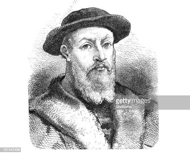 Ferdinand Magellan Portuguese Explorer: Portuguese Culture Stock Illustrations And Cartoons