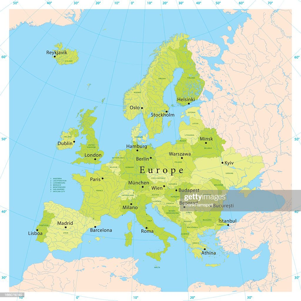 Europe Vector Map : Vector Art