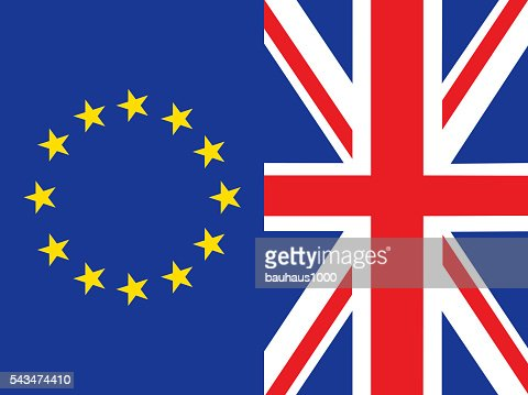 european union flag and great britain flag side by side stock illustration getty images. Black Bedroom Furniture Sets. Home Design Ideas