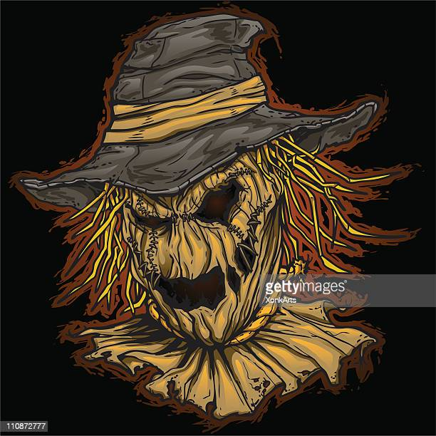 Evil Scarecrow on Dark