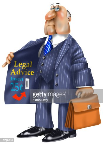 Expensive Lawyer : Stock Illustration